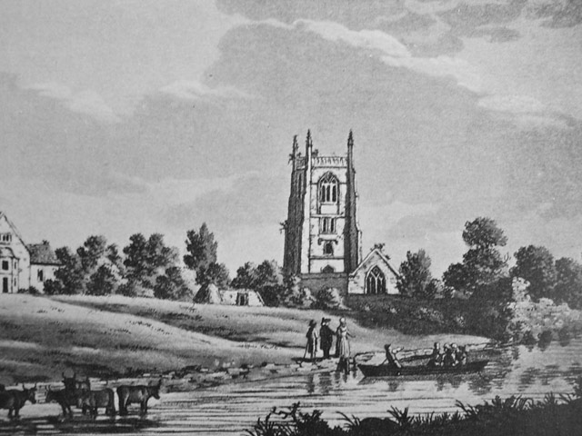 © Rivers Access for All - Kempsford Church (on the Thames upstream from Lechlade,) 1791 Samuel Ireland