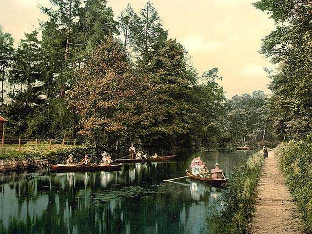 © Rivers Access for All - Surrey, Camberley, Boating and Fishing in the 1890's